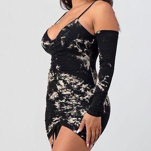Marble mini dress